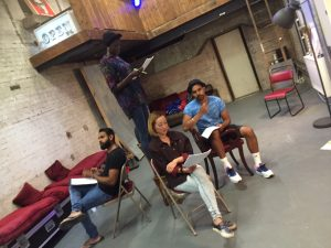 "Workshop with actors on our Verbatim script ""Rough Choices"""